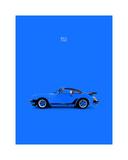 Porsche 911 Turbo Blue Giclée-Druck von Mark Rogan