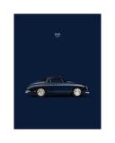 Porsche 356 1958 Blue Giclee Print by Mark Rogan