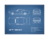 Shelby Mustang GT500-Blue Giclee Print by Mark Rogan