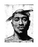 Tupac Lámina giclée por Neil Shigley
