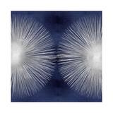 Silver Sunburst on Blue II Giclée-tryk af Abby Young