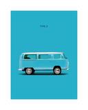 VW Type 2 Sky Blue Stampa giclée di Mark Rogan