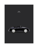 Porsche 356 Speedster Black Impressão giclée por Mark Rogan
