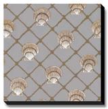 Scallop Shell Net Reproducción de lámina sobre lienzo por Arnie Fisk