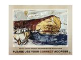 Please Use Your Correct Address Planscher av Elizabeth Blackadder