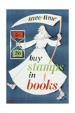 Save Time Buy Stamps in Books Prints by  Thomas