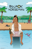 Bojack Horseman- Hollywood Poolside Kunstdruck