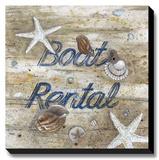 Boat Rental Reproducción de lámina sobre lienzo por Arnie Fisk