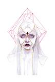 Queen of Diamonds Poster von Agnes Cecile