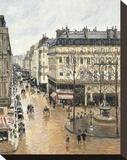 Rue Saint-Honoré in the Afternoon. Effect of Rain, 1897 Toile tendue sur châssis par Camille Pissarro