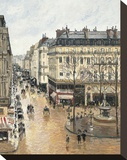 Rue Saint-Honoré in the Afternoon. Effect of Rain, 1897 Stretched Canvas Print by Camille Pissarro