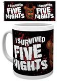 Five Nights At Freddy's - I Survived Mug Tazza