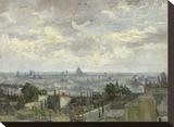 View of Paris, 1886 Stretched Canvas Print by Vincent van Gogh