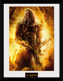God Of War - Zeus Reproduction encadrée pour collectionneurs