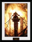 God Of War - Kratos Chained Reproduction encadrée pour collectionneurs