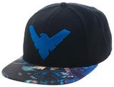 Nightwing- Action Bill Logo Snapback Hat