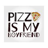 Funny Pizza Poster Doodle Style. Vector. Julisteet tekijänä Katja Gerasimova