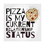 Funny Pizza Poster Doodle Style. Vector. Posters tekijänä Katja Gerasimova
