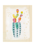 Collage Cactus I on Graph Paper Premium Giclee Print by Melissa Averinos