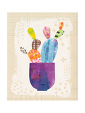 Collage Cactus III on Graph Paper Premium Giclee Print by Melissa Averinos