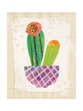 Collage Cactus II on Graph Paper Premium Giclee Print by Melissa Averinos