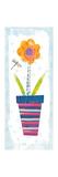Collage Flower I Border Poster by Melissa Averinos