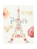 Paris Blooms I Premium gicléedruk van Jess Aiken