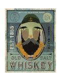 Fisherman V Old Salt Whiskey Premium Giclee Print by Ryan Fowler