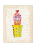 Collage Cactus V on Graph Paper Premium Giclee Print by Melissa Averinos