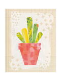 Collage Cactus VI on Graph Paper Premium Giclee Print by Melissa Averinos