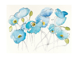 Black Line Poppies III Watercolor Posters by Shirley Novak
