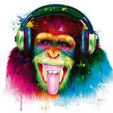 DJ Monkey Giclee Print by Patrice Murciano