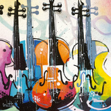 Variation for Violin III Giclee Print by Patrick Cornée
