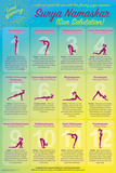 Wake Up With Surya Namaskar (Yoga Sun Salutation) Posters