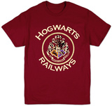 Harry Potter- Hogwarts Railways Badge T-skjorter
