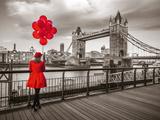 Red Balloons Impressão giclée por Assaf Frank