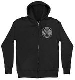 Zip Hoodie: Against The Current- Circles & Squares Kapuzenjacke mit Reißverschluss