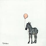 Nursery Zebra Giclee Print by Britt Hallowell