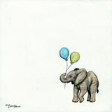 Nursery Elephant Giclee Print by Britt Hallowell