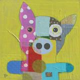 El cerdo Lámina giclée por Julie Beyer