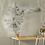 Star Wars Millennium Falcon Prepasted Mural Wallpaper Mural
