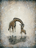 My Love for You - Giraffes Posters by Britt Hallowell