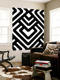 Monochrome Patterns 6 Wall Mural by Natasha Marie