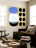 Luna Azul I Wall Mural by Mary Calkins