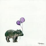 Nursery Hippo Giclee Print by Britt Hallowell