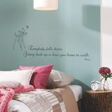 Disney Bambi Quote - Getting Back Up Muursticker