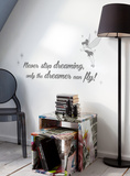 Disney Tinkerbell Quote - Never Stop Dreaming Wall Decal