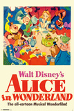 Walt Disney's  Alice In Wonderland - One Sheet 高画質プリント