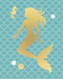 Mermaid Seahorse Reproduction procédé giclée par Sasha Blake