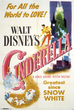 Walt Disney's: Cinderella- One Sheet アートポスター